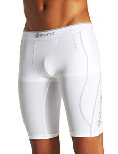 Skins A200 Half Tight Cuissard de compression homme Blanc FR : L (Taille Fabricant : L)