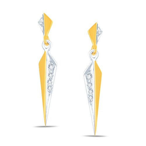 Jashn The Foppery Drop Earring In Sterling Silver With Swarovski Diamond # JNESC012