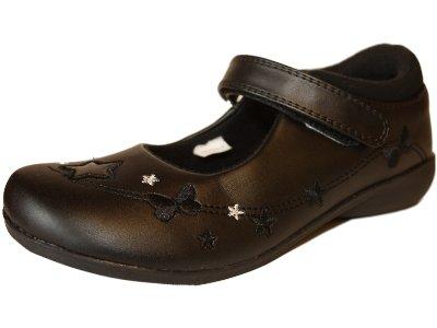 New Girls GOODY-2-SHOES EVIE Slip On Black SCHOOL Sandal Slip On Shoe Kids Sizes UK 6 - 7 - 8 - 9 - 10 - 11 - 12