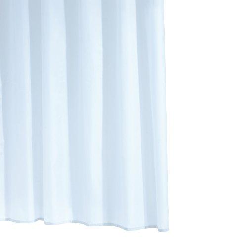 Ridder 314110-350 Duschvorhang Folie inklusive Aufhängeringe 240 x 180 cm Standard Uni, weiß