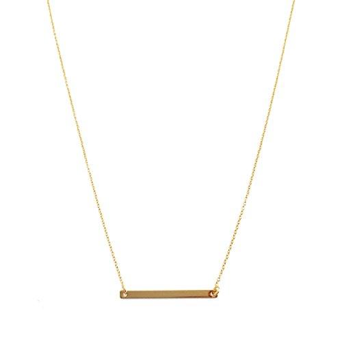 honeycat-24k-gold-classic-horizontal-bar-necklace-minimalist-delicate-jewelry