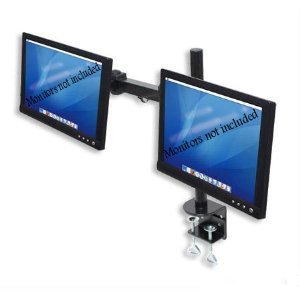 "Dual Freestanding Monitor Stand holds monitors up to 22"" widescreen. Uses standard Vesa mount. Clamps to Desk."