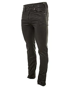 True Religion Men's Dean Tapered Leatherlike Pant In Black, Black, 32