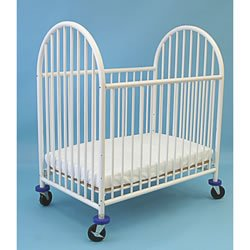 Black friday la baby metal super mini port a crib white for Best value baby crib