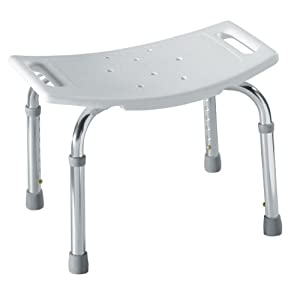 Moen DN7025 Home Care Adjustable Tub And Shower Seat, White
