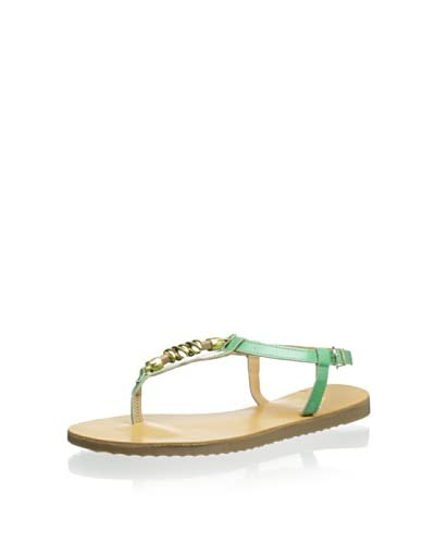 Trinity Women's Gold-tone Thong Sandal