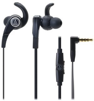 Audio-Technica SonicFuel in-ear headphones for Smartphones with In-line Mic -0 - Control ATH-CKX7iS BK (Black) [parallel import goods]