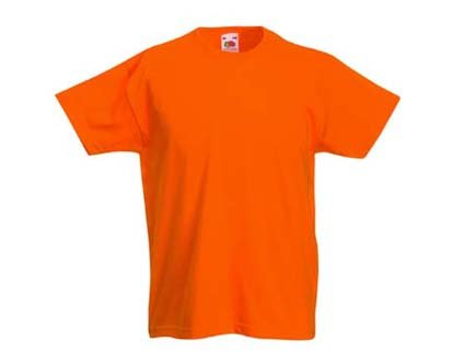 Kinder T-Shirt Valueweight; Orange,164 164,Orange