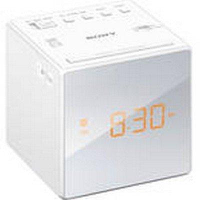 Clock Radio Dual Alarm Wht Non Cd