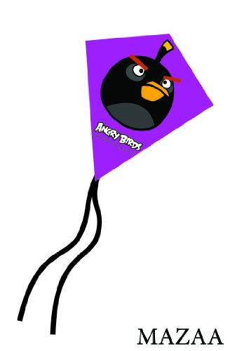 Angry Birds Black Bird Mini Poly Diamond Kite 7.5