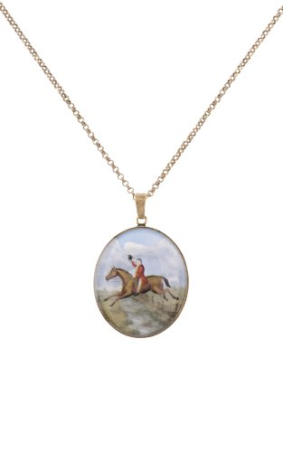 Cath Kidston Countryside Pictorial Pendant Necklace - Antique Brass