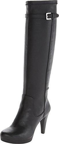 Nine West Women's Noureen 3 Black Synthetic Boot 8.5 M