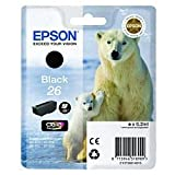 Epson 26 / T2601 Black Original Printer Ink Cartridge for Epson XP-600 XP-605 XP-700 XP-800