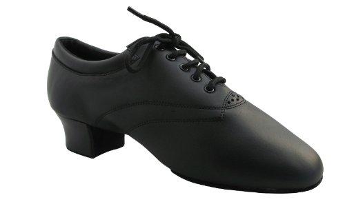 HenryG Men Split Sole Latin Salsa Dance Shoes, Men Two-Point Leather Dance Shoes HGB-4464