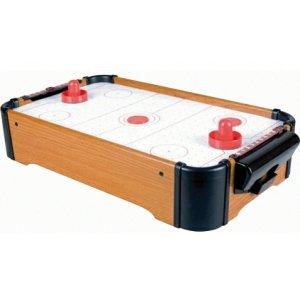 AIR HOCKEY DESK TABLE TOP GAME. 2 PADDLES & PUCKS WOOD
