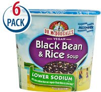 Dr. McDougall's Soup Cup Gluten Free Black Bean and Rice -- 1.6 oz Each / Pack of 6