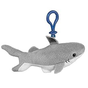 Black tip stuffed shark clip toy keychain by for Life size shark plush