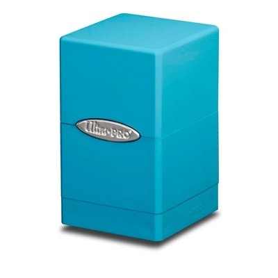 Light Blue Satin Tower Deck Boxes