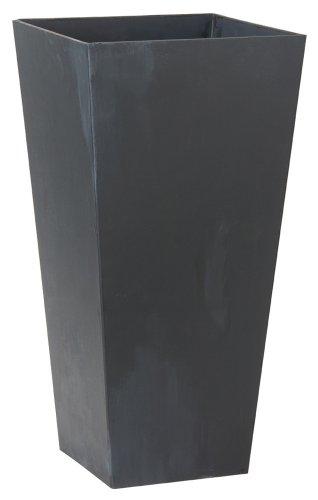 Novelty 35198 Ella Tall Planter, Black, 19.5-Inch