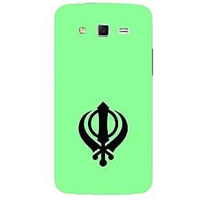 "Skin4gadgets Sikh Symbol ""Khanda"" on English Pastel Color-Turquiose Green Phone Skin for SAMSUNG GALAXY GRAND 2 ( G7106)"