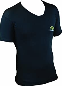 Highlander Men's Bamboo Short Sleeved Tee Shirt Baselayer - Black, Small