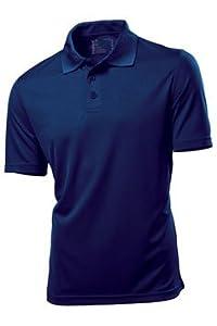 H7730 2er-Pack Hanes Golf Sport Poloshirt Kurzarm atmungsaktiv, navy , Gr. XL