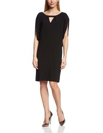 Laurèl Damen Kleid 11106 DRESS, Knielang, Einfarbig, Gr. 38, Schwarz