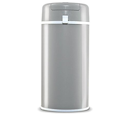 Bubula Stainless Steel Diaper Pail, Grey