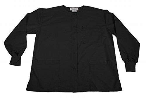 Natural Uniforms Women's Warm Up Jacket (Black) (X-Large) (Plus Sizes Available) (Natural Uniforms Scrubs compare prices)