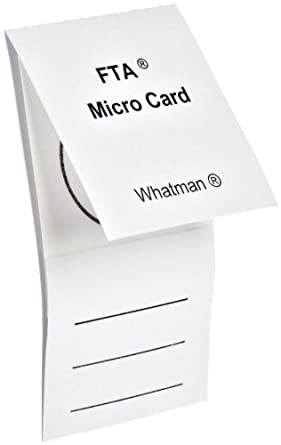 Whatman WB120210 FTA Micro Card with 1-Sample Area, 125 microliter Size (Pack of 100)