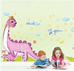 Dinosaur Park Childrens Kids Baby Nursery Wall Decal Stickers front-702137