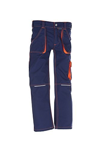 6111-Planam-Junior-Bundhose-marineorange-110116