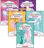img - for Unicorn School Complete Set, Books 1-5: First-Class Friends, The Surprise Party, The Treasure Hunt, The School Play, and The Pet Show (5-Book Set) book / textbook / text book