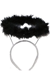 Marabou Halo Headband Costume Accessory