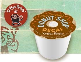 Coffee People Donut Shop DECAF 88 K-Cups for