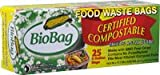BioBag 3 Gallon Kitchen Compost Bag, 25 CT (Full Case of 12 Boxes, 300 Bags Total)