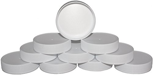 Bulk Plastic Mason Jar Lids with Sureseal Foam Liner - 10 Pack - Perfect Caps For Glass or Plastic - Food Grade