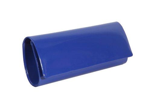 Cobalt blue patent foldover clutch handbag by Olga Berg