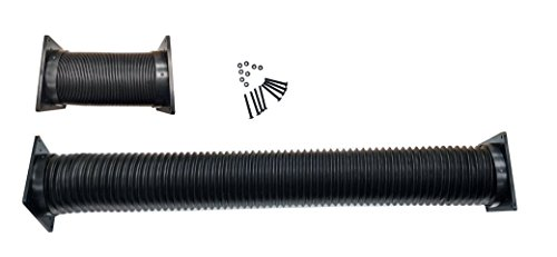 Coolerguys Flexible Vent Duct Tubing with 92mm / 120mm Fan End Caps Short (7-30