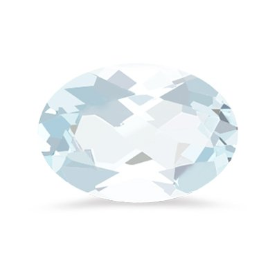 0.95-1.00 Cts of 8x6 mm Oval A Loose Aquamarine ( 1 pcs ) Gemstone