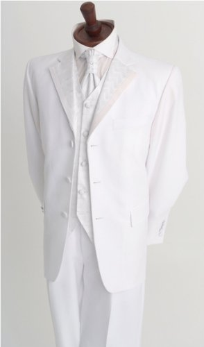 Mens White Wedding Suit Outfit 40