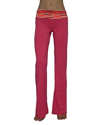 Marika Womens Comfortable Casual-wear Lounge / Yoga Pants M Day Glo Pink (Pink Brand Yoga Pants compare prices)
