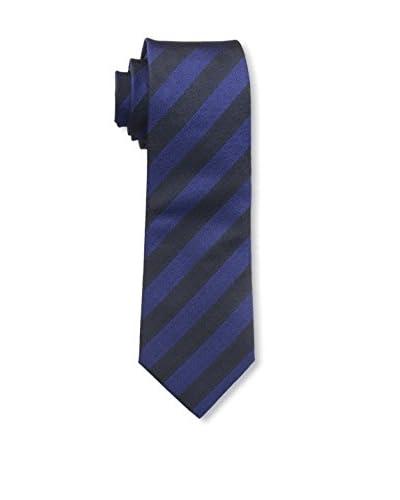 Valentino Men's Stripe Woven Tie, Royal Blue