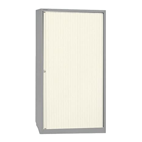 Bisley ET408/19/4S.EW 198 cm Euro Tambour White Shutter with 4 Shelves - Goose Grey