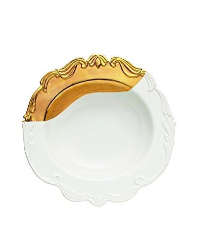 Bridget Parris for Magenta Oh So Fountainbleu Serving Bowl, White/Gold