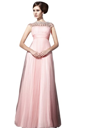 CharliesBridal Light Pink Bateau Neck Floor Length Mother of the Bride/Groom Dress - XS - Light Pink