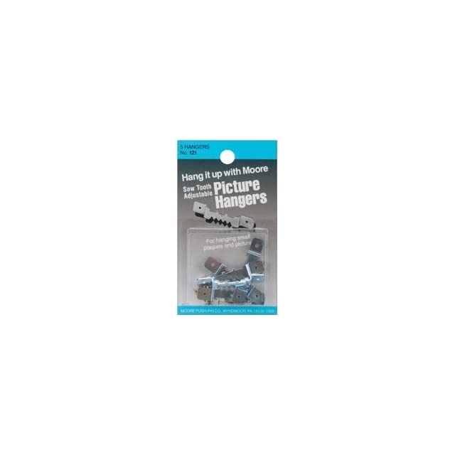 Bulk Buy Moore Push Pin Saw Tooth Adjustable Picture Hangers 5/Pkg 121 (12 Pack)