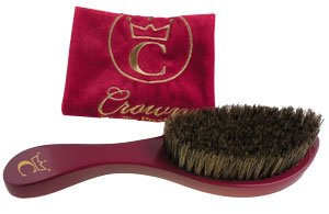 360 Gold Premium Crown Wave Brush/ Med. Boar Bristle