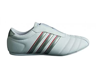 ADIDAS Adi-TKD III Training Shoes, White/Silver/Red, UK6