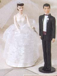 1997 Wedding Day Barbie and Ken Hallmark Ornament - 1